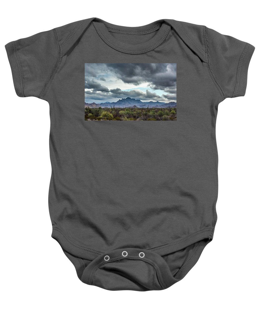 Baja Baby Onesie featuring the photograph Somewhere by Erik Anderson