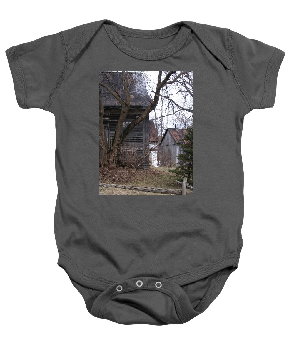 Baby Onesie featuring the photograph Somewhere by Line Gagne