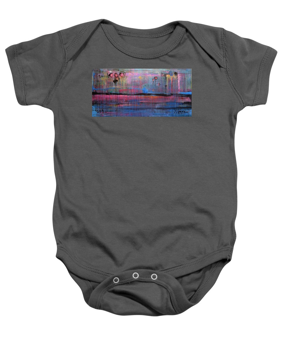 Abstract Baby Onesie featuring the painting Soul by Laurie Maves ART