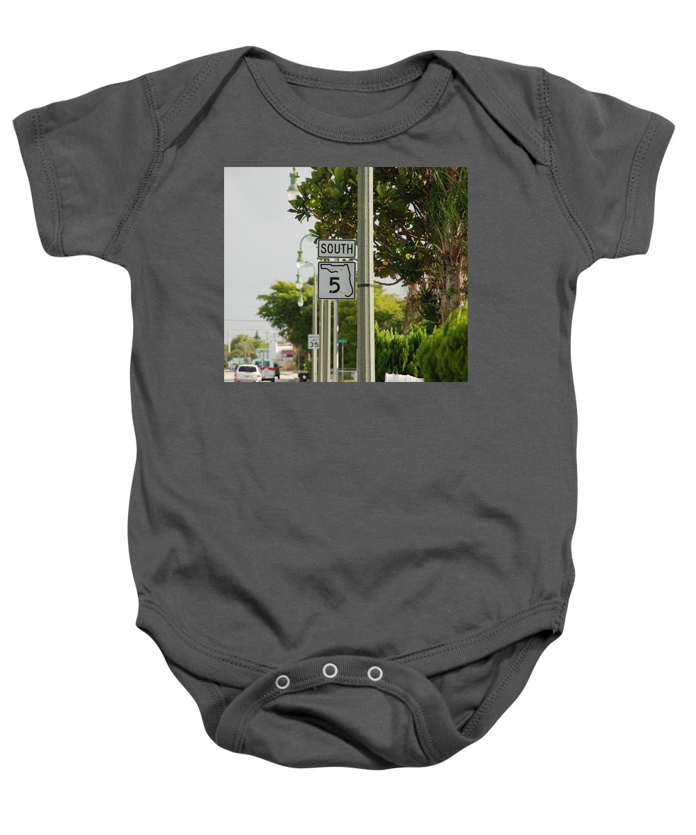 South Baby Onesie featuring the photograph South Florida 5 by Rob Hans