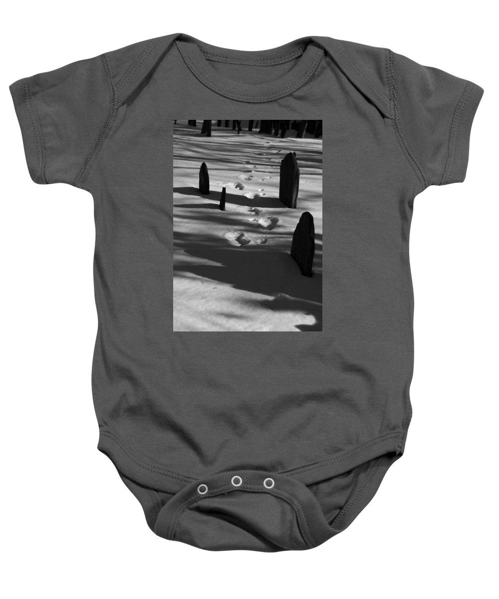 Grave Baby Onesie featuring the photograph South For The Winter by Steven Natanson