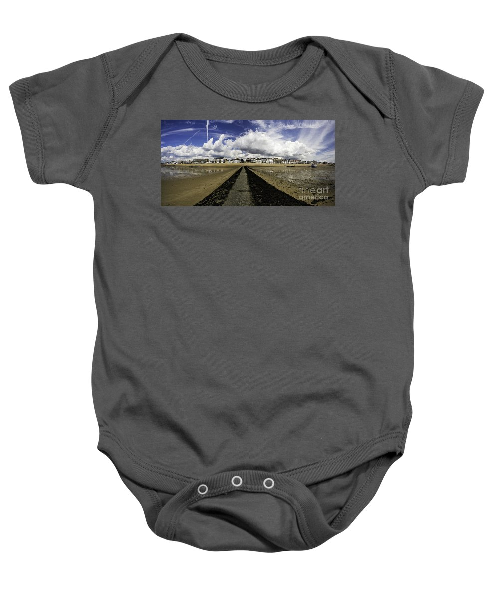Southend On Sea Baby Onesie featuring the photograph Southend On Sea Panorama by Sheila Smart Fine Art Photography