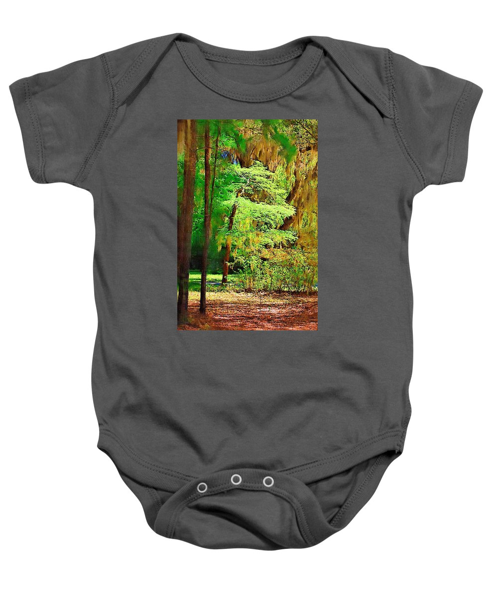Woods Baby Onesie featuring the photograph Southern Forest by Donna Bentley