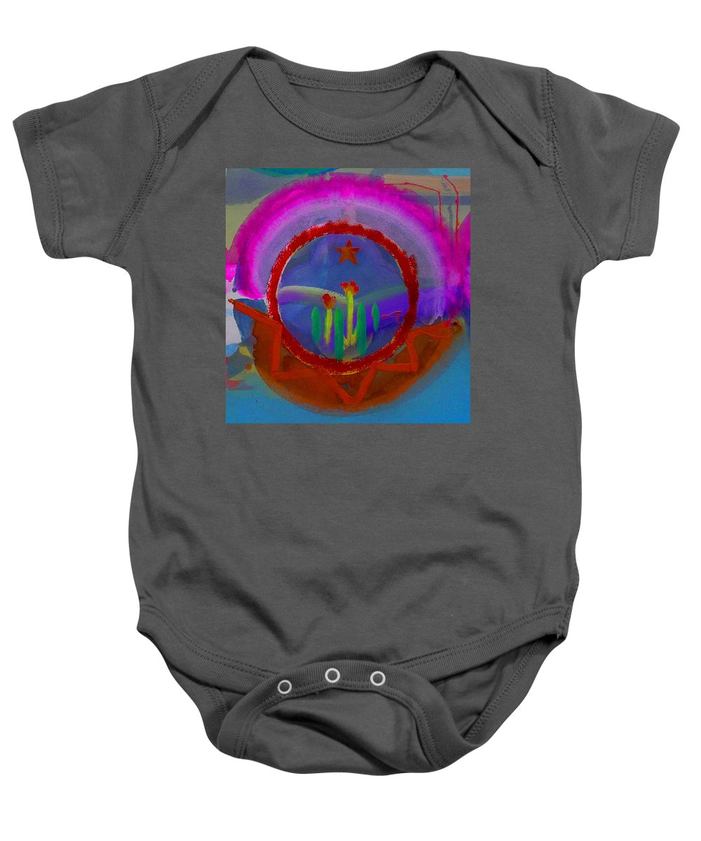 Love Baby Onesie featuring the painting Spanish America by Charles Stuart