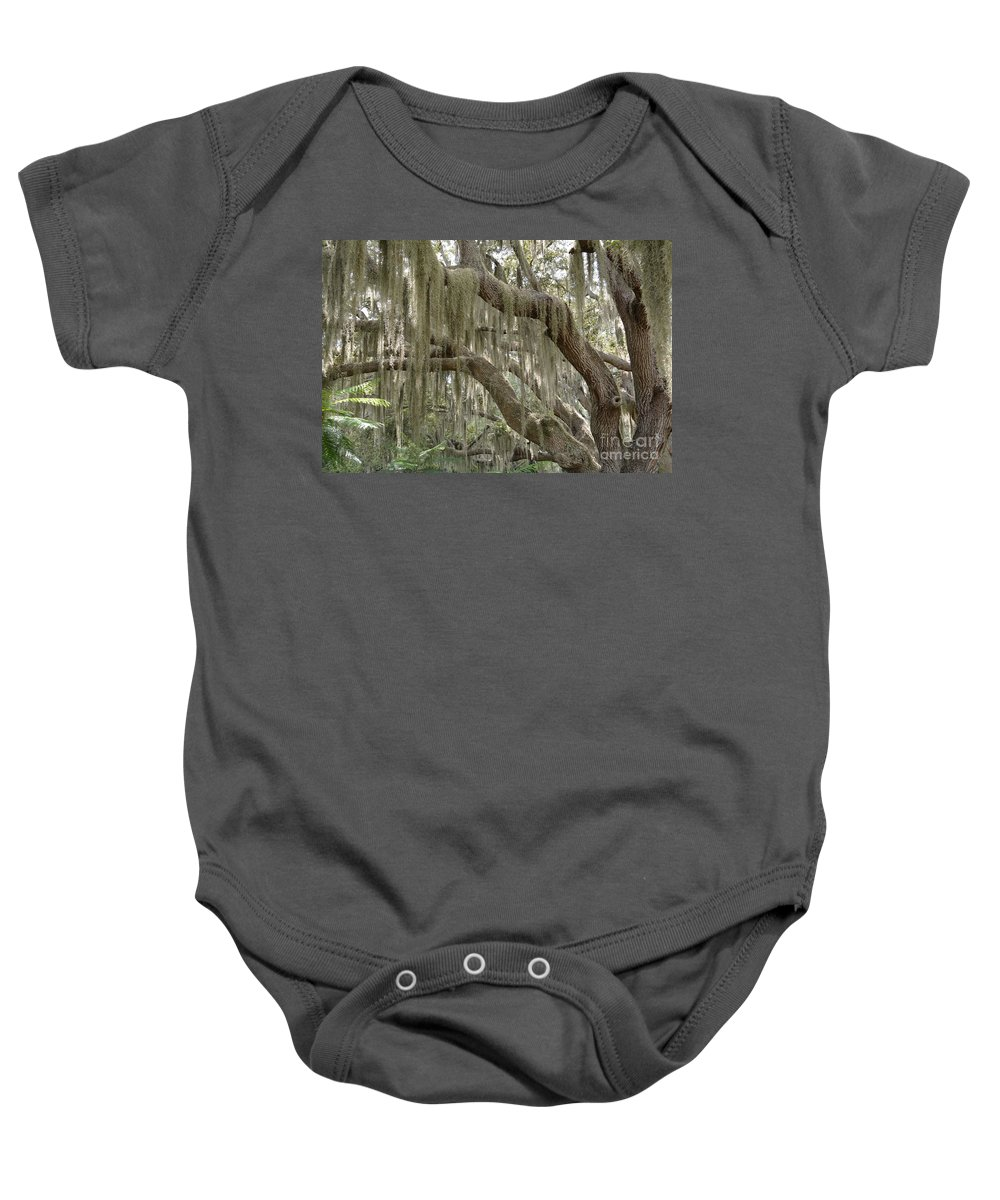 Spanish Moss Baby Onesie featuring the photograph Spanish Moss by To-Tam Gerwe