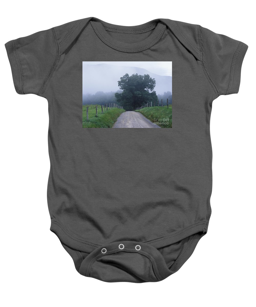 Fog Baby Onesie featuring the photograph Sparks Lane - Fm000117 by Daniel Dempster