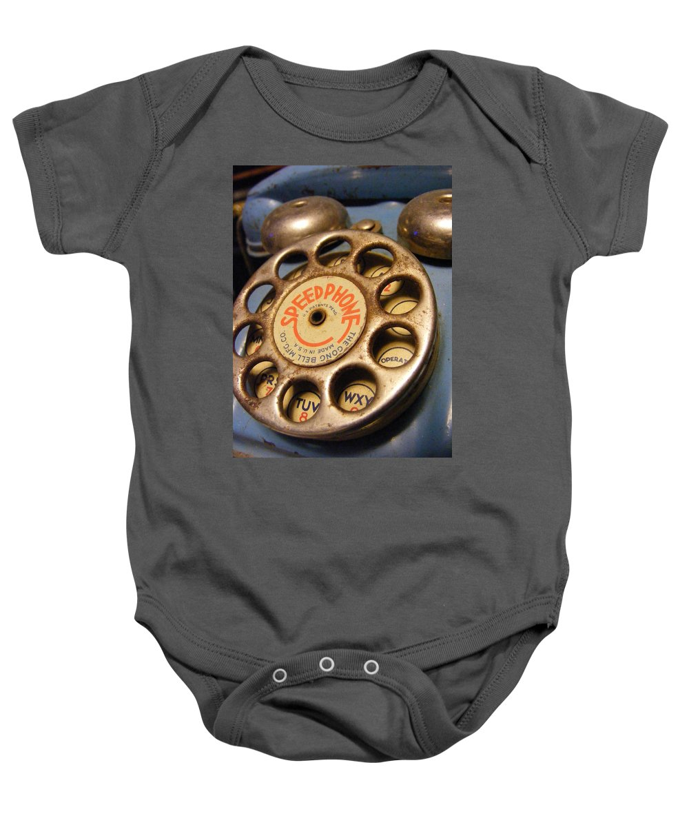 Phone Baby Onesie featuring the photograph Speed Phone by Ed Smith