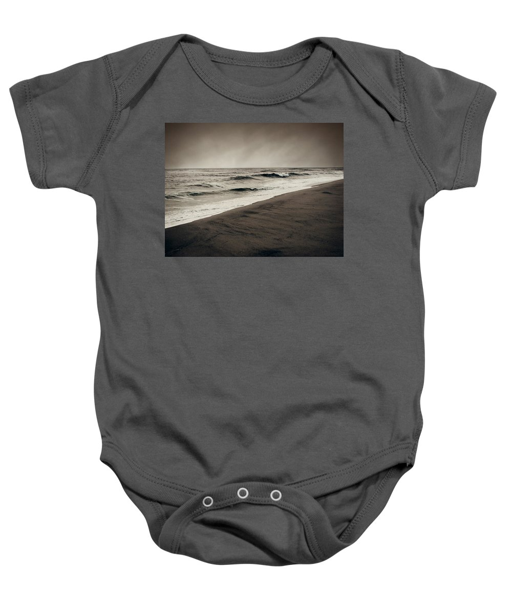 Ocean Baby Onesie featuring the photograph Spending My Days Escaping Memories by Dana DiPasquale