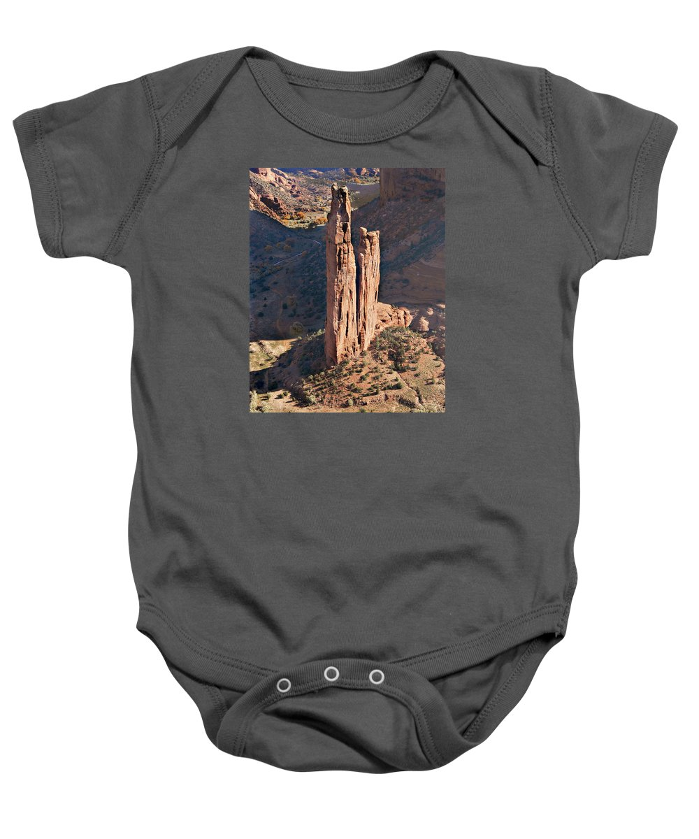 Southwest Usa Baby Onesie featuring the photograph Spider Rock - Canyon De Chelly by Alan Toepfer