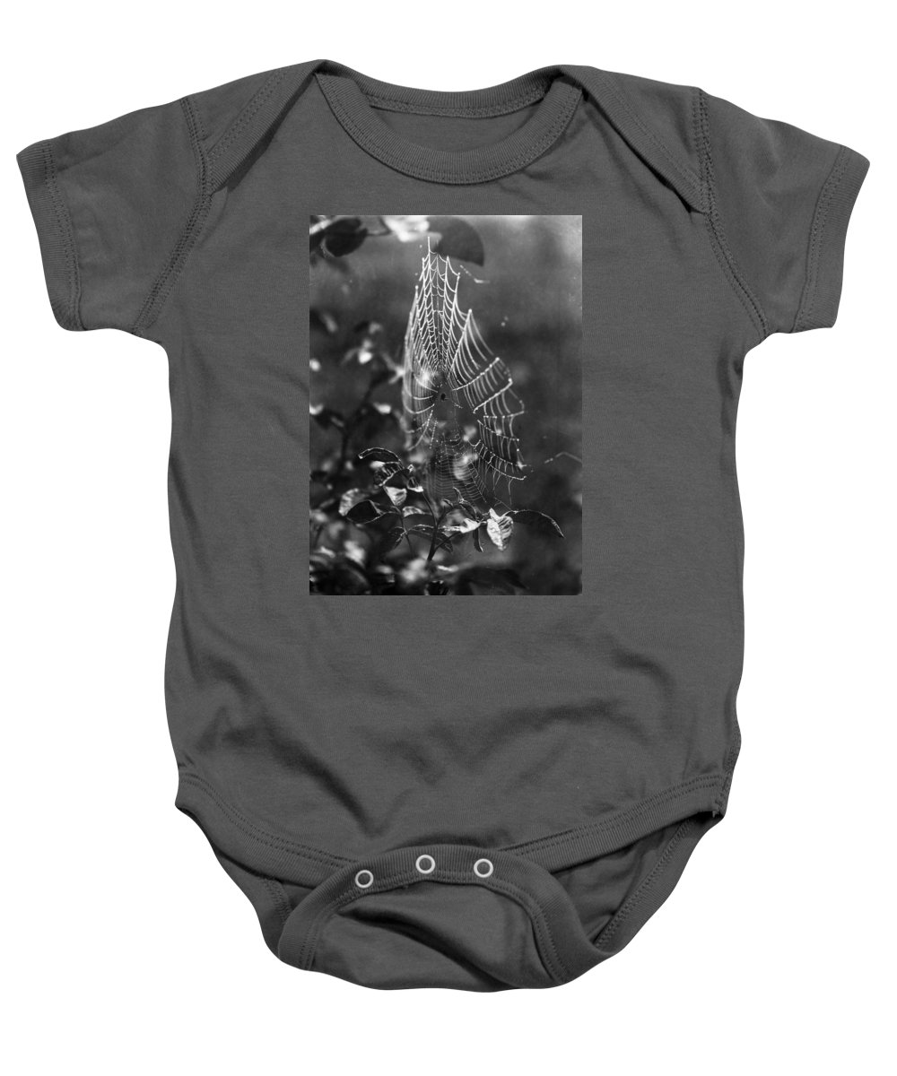 20th Century Baby Onesie featuring the photograph Spider Web by Granger
