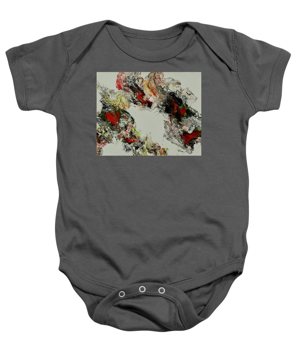 Abstract Baby Onesie featuring the painting Spirit Dance by Patti Ishee