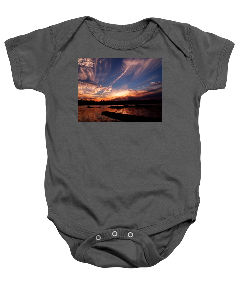 Sky Baby Onesie featuring the photograph Spirits In The Sky by Gaby Swanson