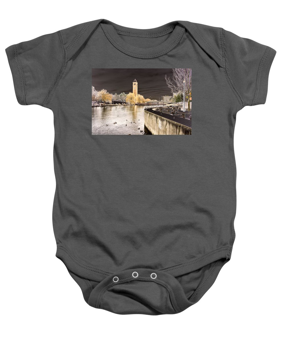 Landscape Baby Onesie featuring the photograph Spokane Fantasy 2 by Lee Santa