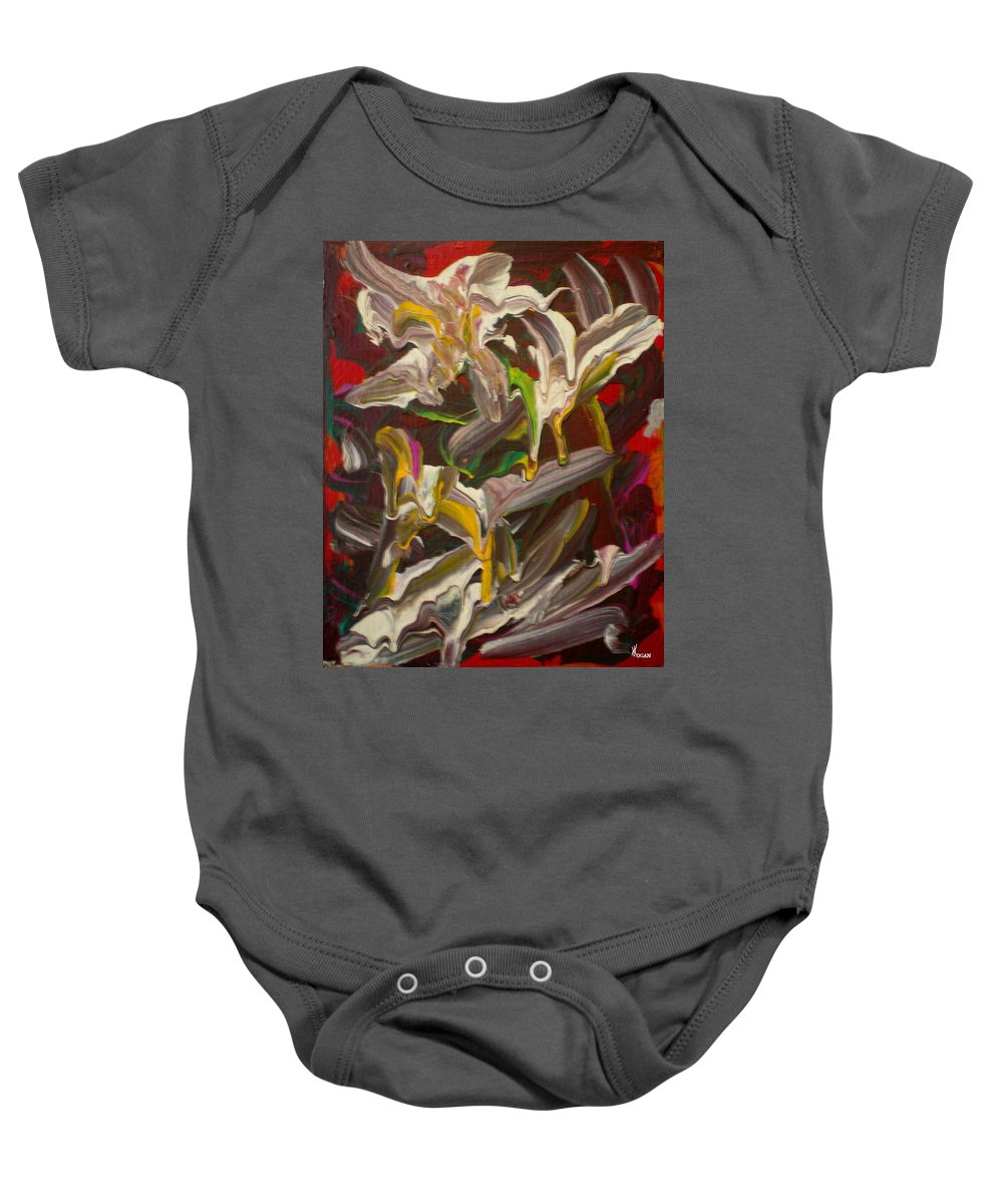 Spring Baby Onesie featuring the painting Spring Abstract -026 by Will Logan