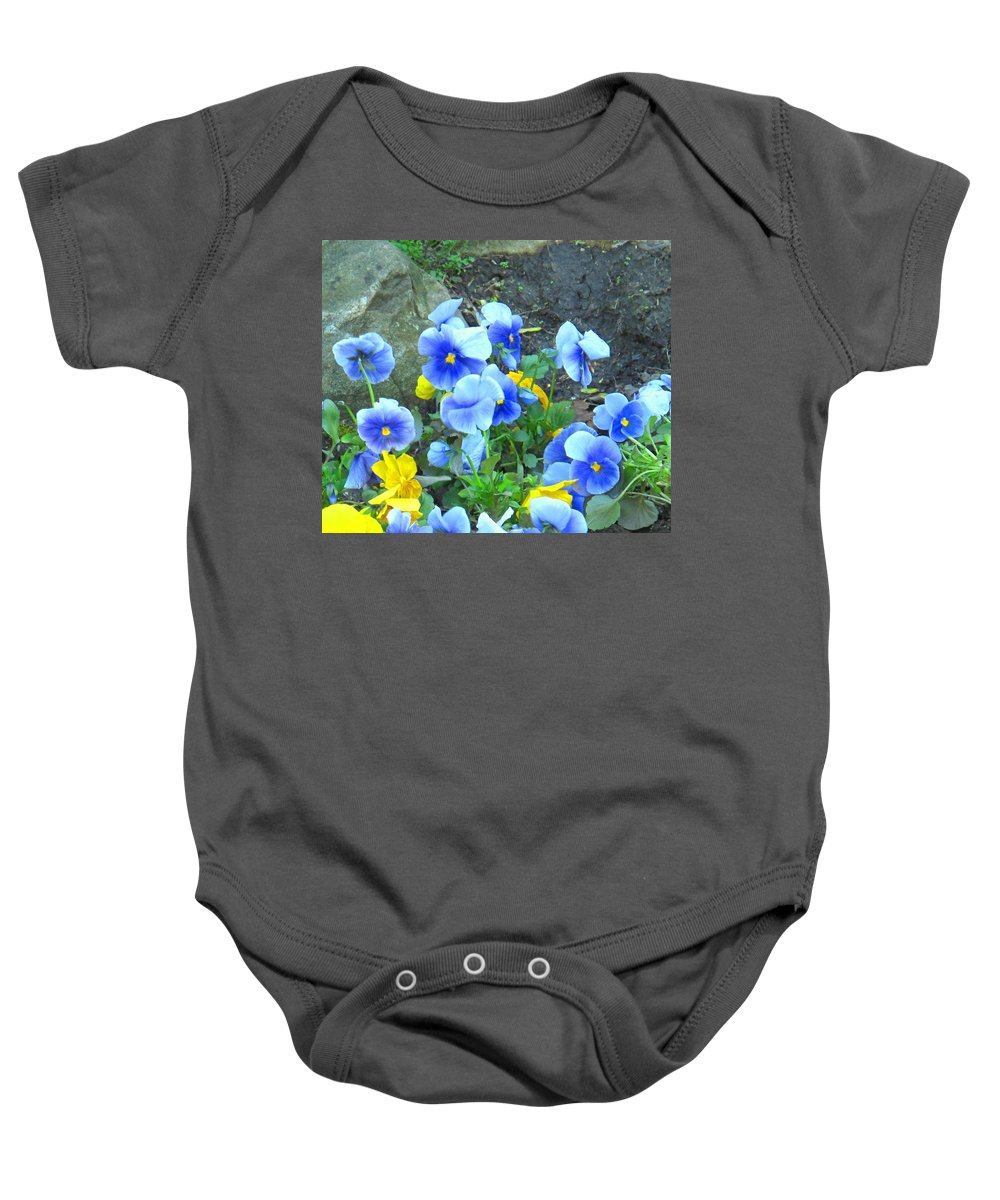 Blue Baby Onesie featuring the photograph Spring Beauties by Ian MacDonald