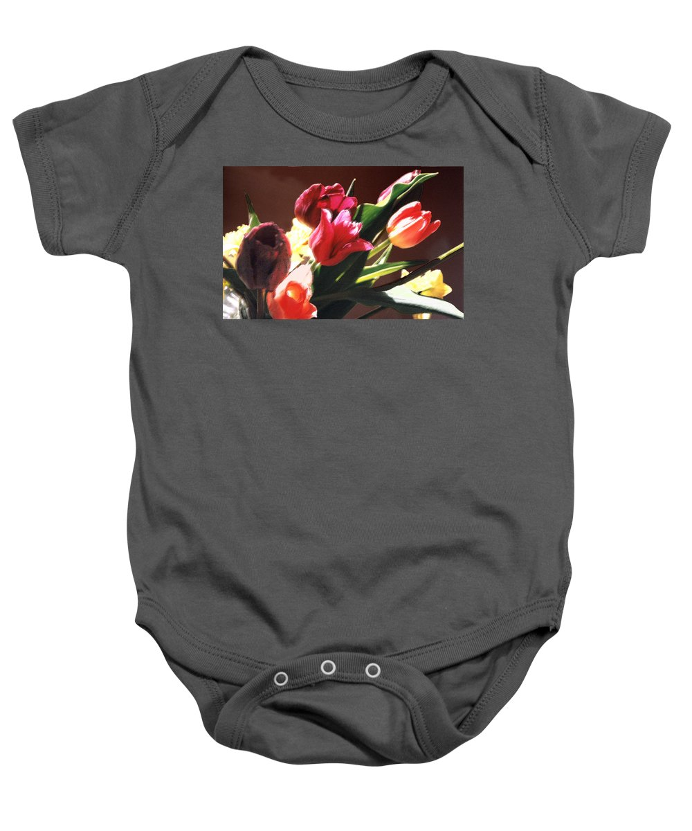 Floral Still Life Baby Onesie featuring the photograph Spring Bouquet by Steve Karol