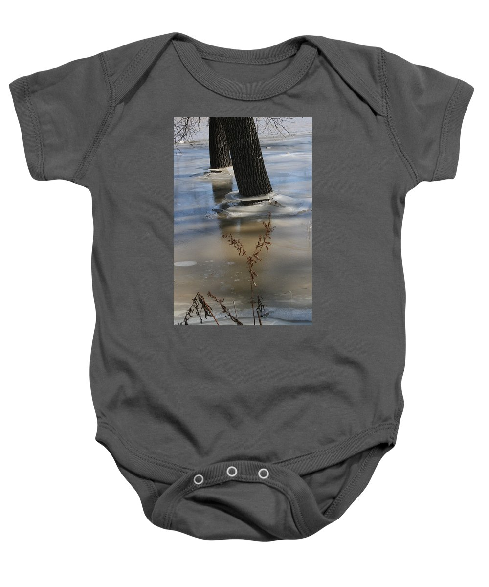 Spring Baby Onesie featuring the photograph Spring Flood by Mary Mikawoz