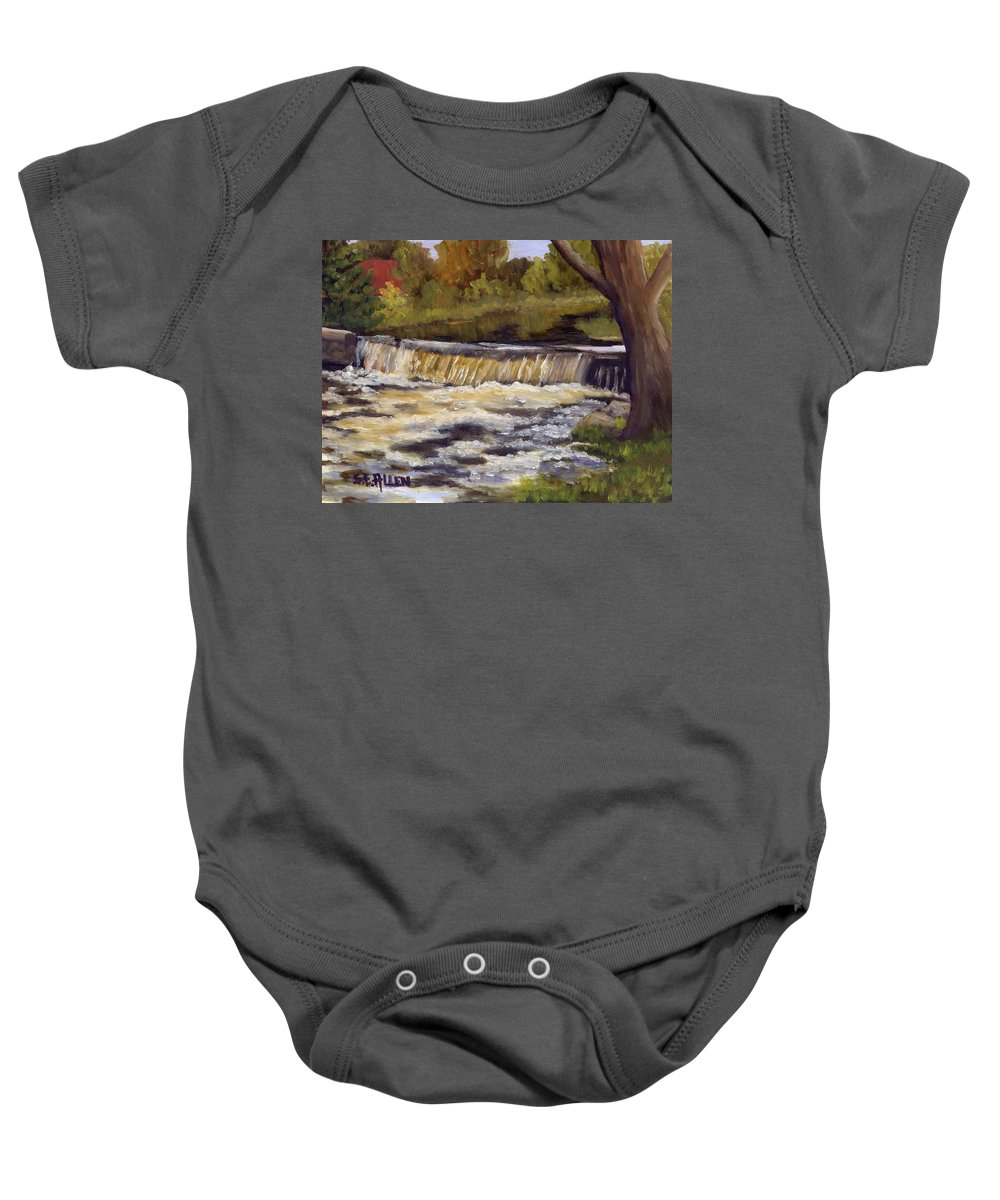 Water Baby Onesie featuring the painting Spring Flow by Sharon E Allen