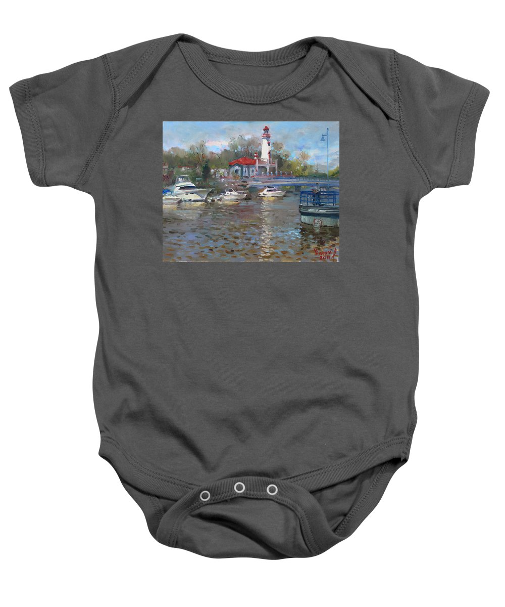 Mississauga Baby Onesie featuring the painting Spring In Lake Shore by Ylli Haruni