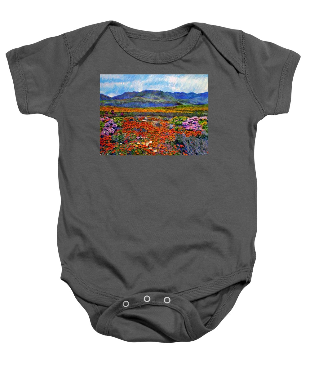 Spring Baby Onesie featuring the painting Spring In Namaqualand by Michael Durst