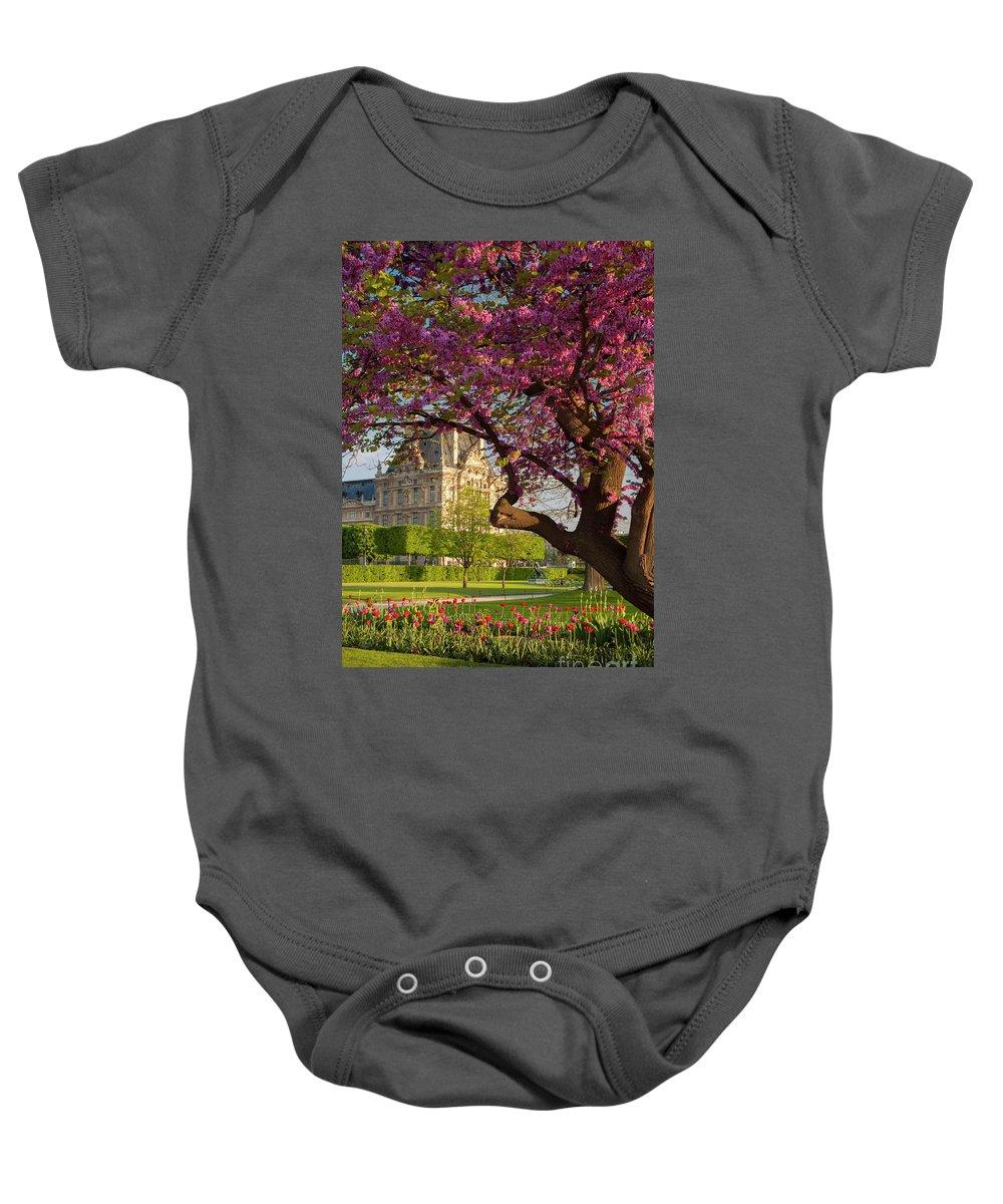 Architecture Baby Onesie featuring the photograph Spring In The Garden by Brian Jannsen