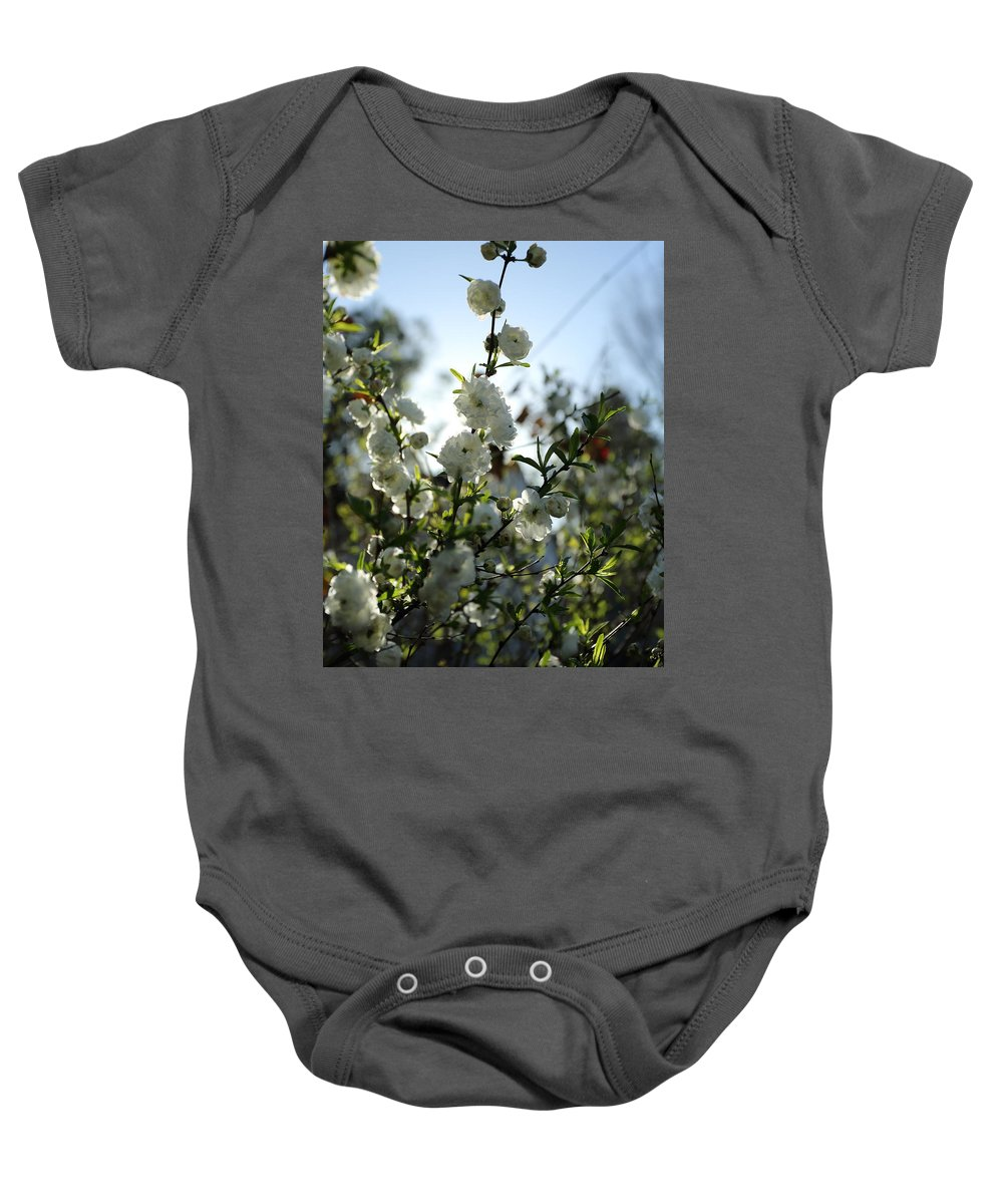 Flowers Baby Onesie featuring the photograph Spring Is Coming by April Copeland