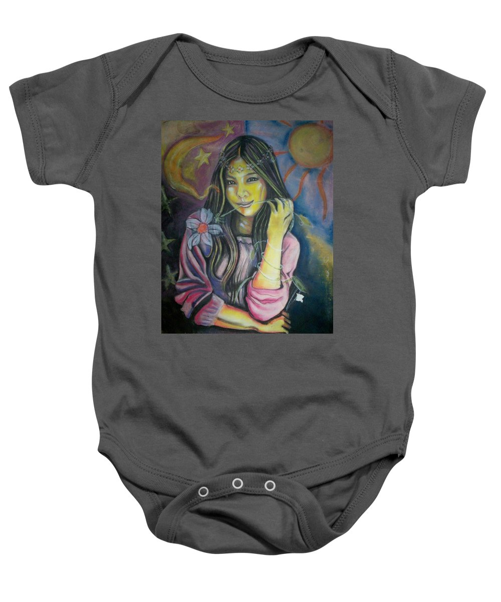Pastels Baby Onesie featuring the pastel Spring Is In The Air by Americo Salazar