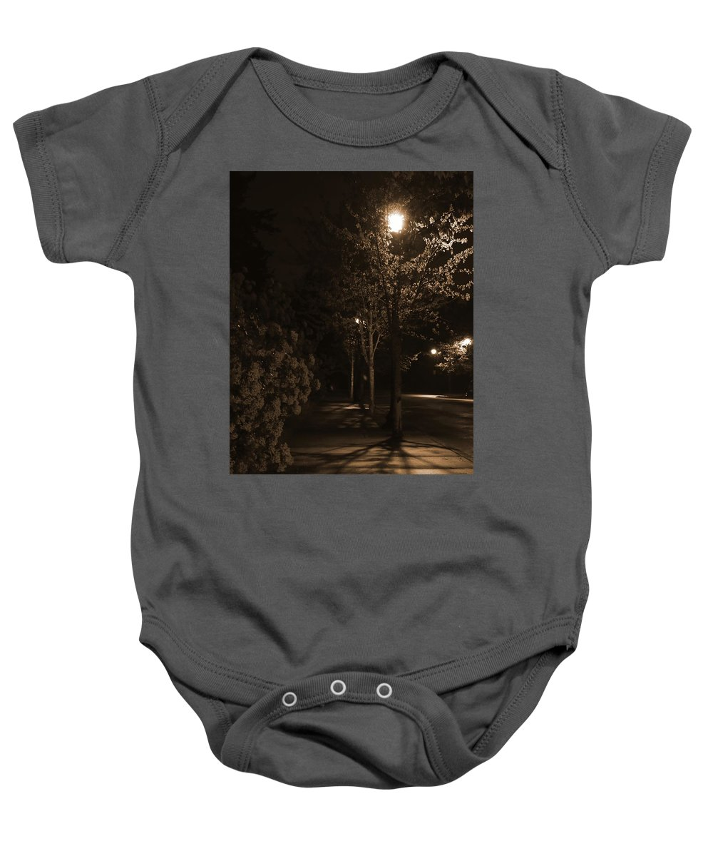 Baby Onesie featuring the photograph Spring Night by Crooked Cat Art and Photography