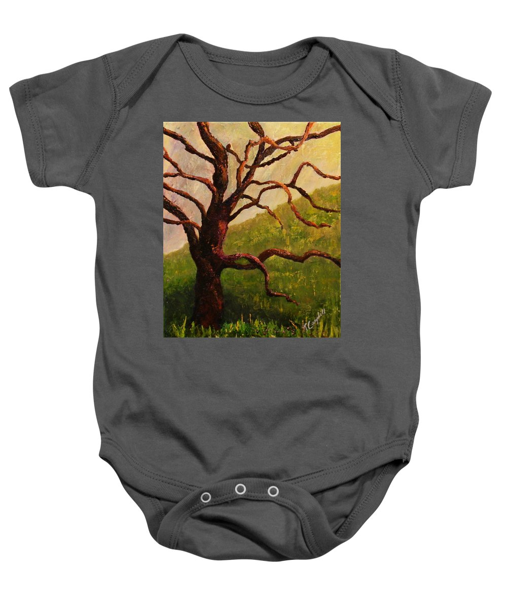 Tree Baby Onesie featuring the painting Spring On Figueroa Mt. by Trish Campbell
