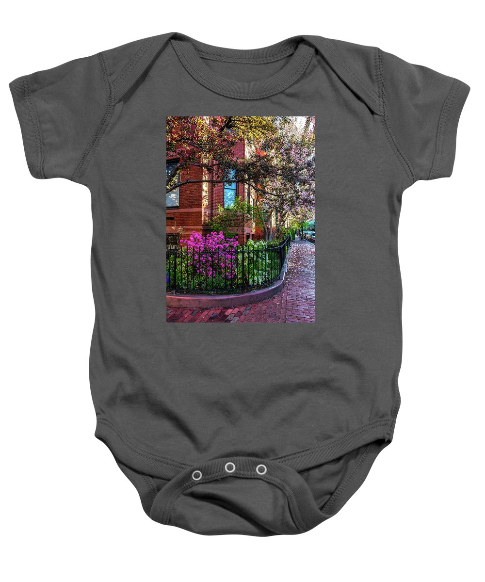 Boston Ma Baby Onesie featuring the photograph Spring Time In The City by Larry Richardson