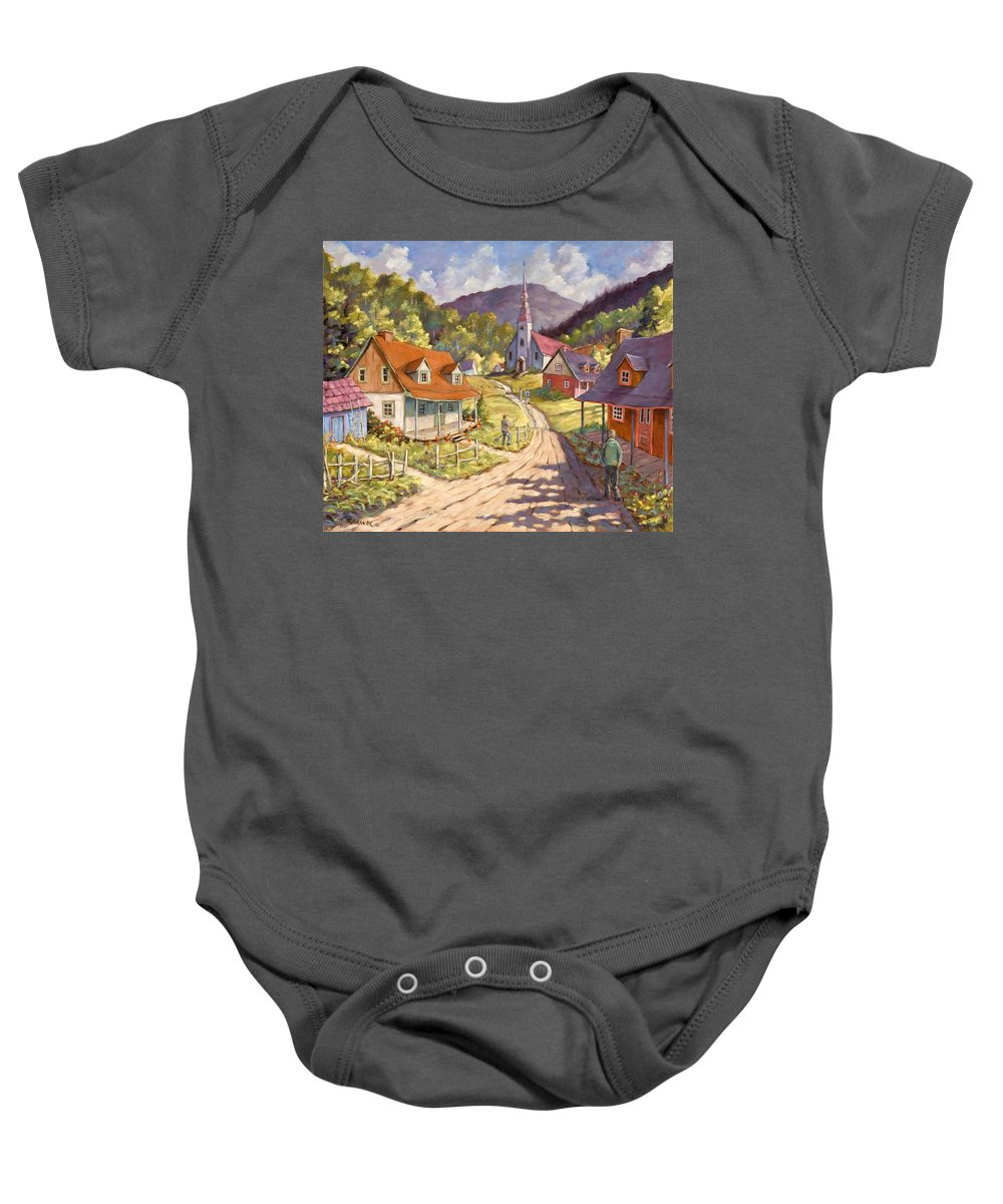 Art Baby Onesie featuring the painting Spring Time Sun by Richard T Pranke