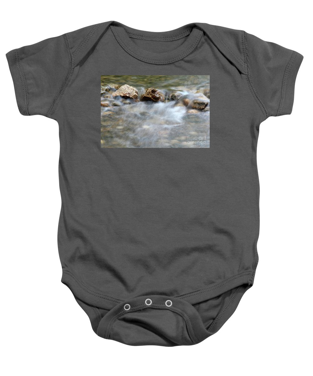 Stream Baby Onesie featuring the photograph Spring With Rocks Nature Scene by Goce Risteski