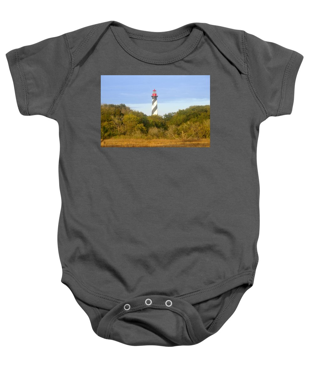 St. Augustine Florida Baby Onesie featuring the photograph St. Augustine Light House by David Lee Thompson