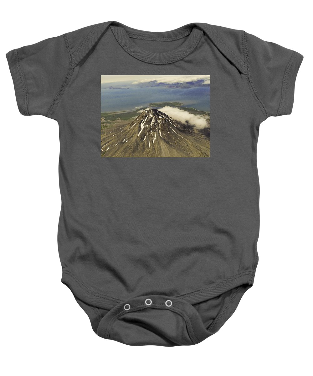 St. Augustine Volcano Baby Onesie featuring the photograph St. Augustine Volcano by Phyllis Taylor