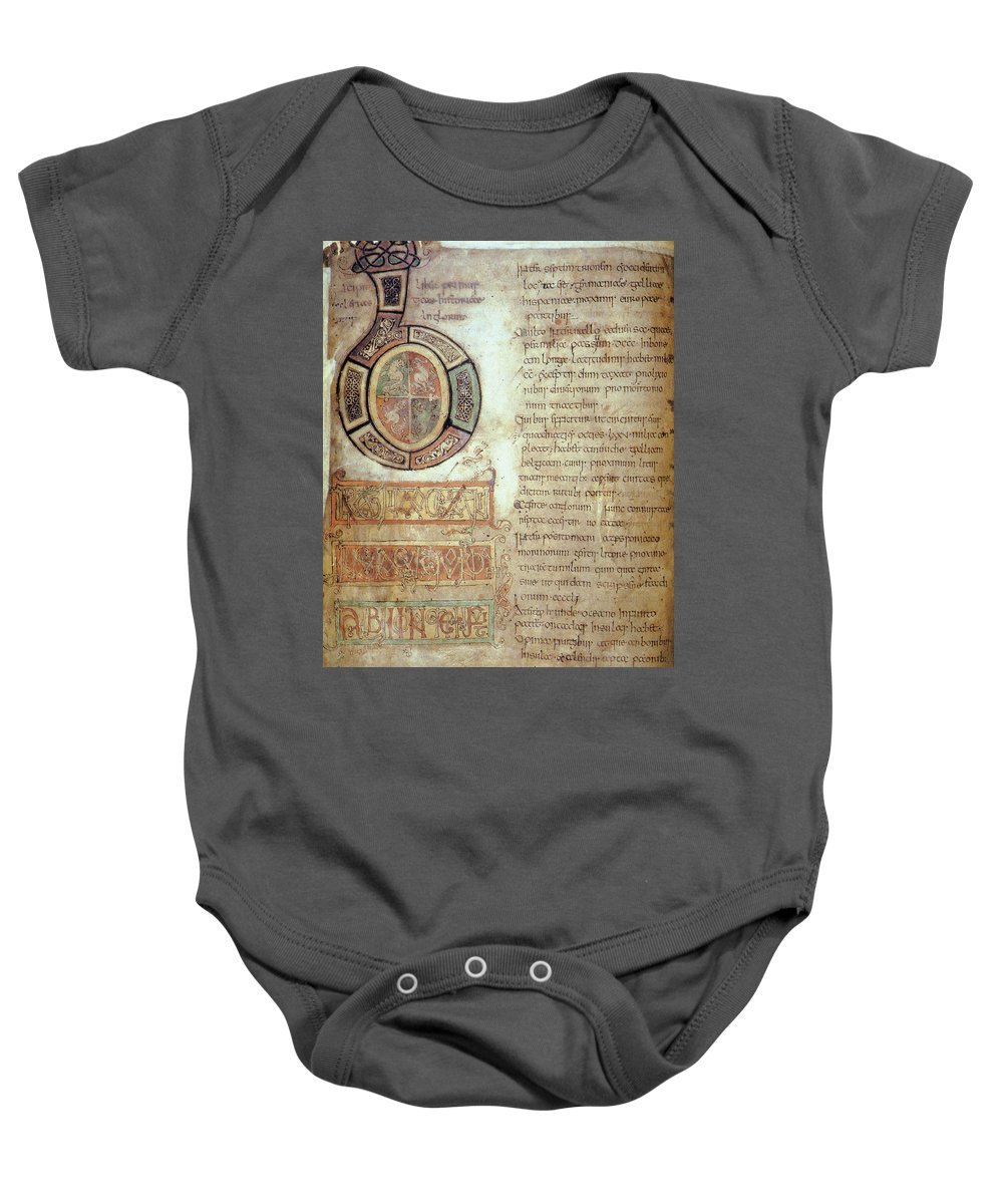 732 Baby Onesie featuring the photograph St. Bede, Manuscript by Granger