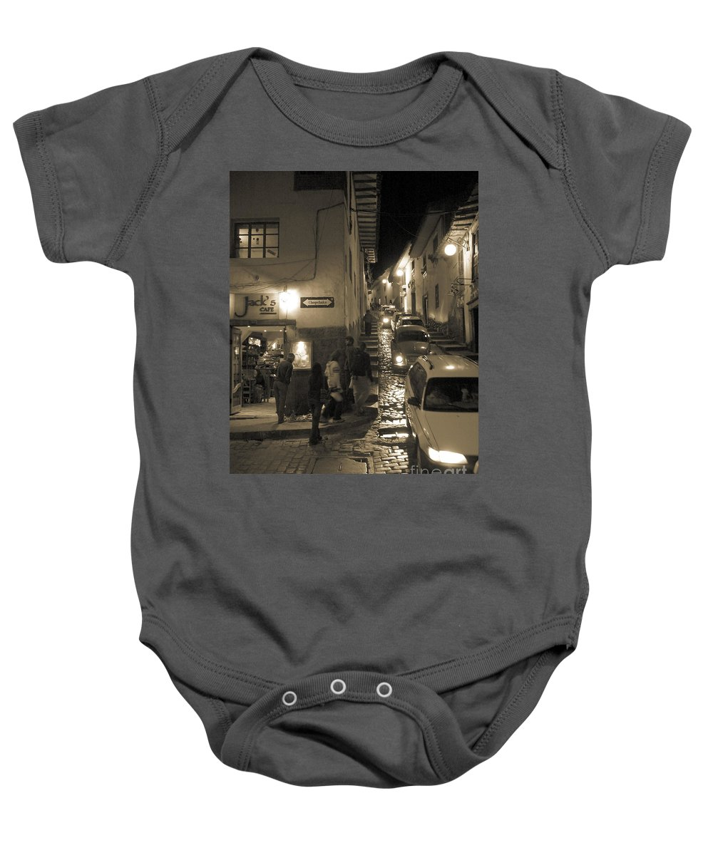 Jack's Cafe Baby Onesie featuring the photograph Jack's Cafe by Sonal Dave