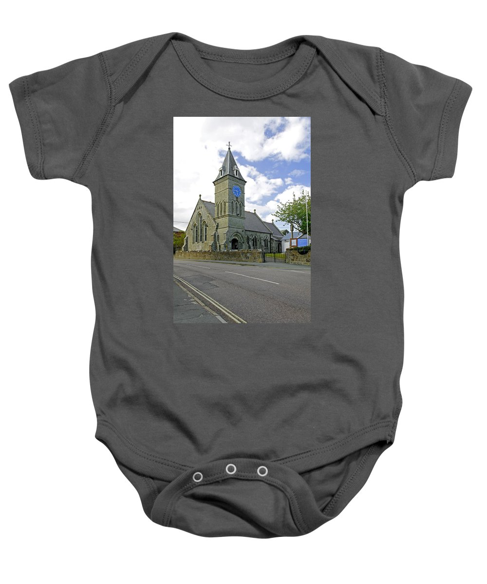 Isle Of Wight Baby Onesie featuring the photograph St John The Evangelist Church At Wroxall by Rod Johnson
