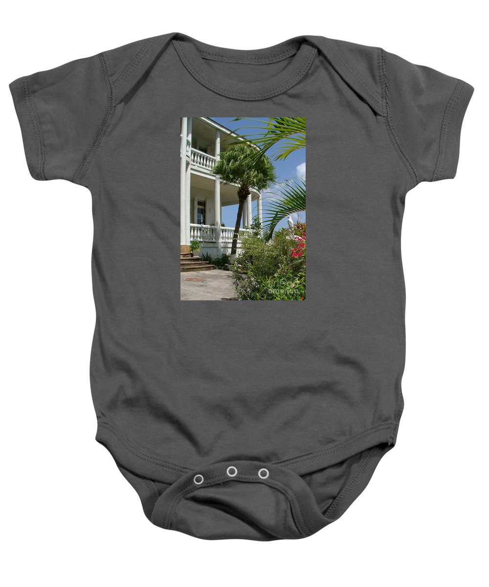 St Lucia Baby Onesie featuring the photograph St Lucia Overlook by Neil Zimmerman