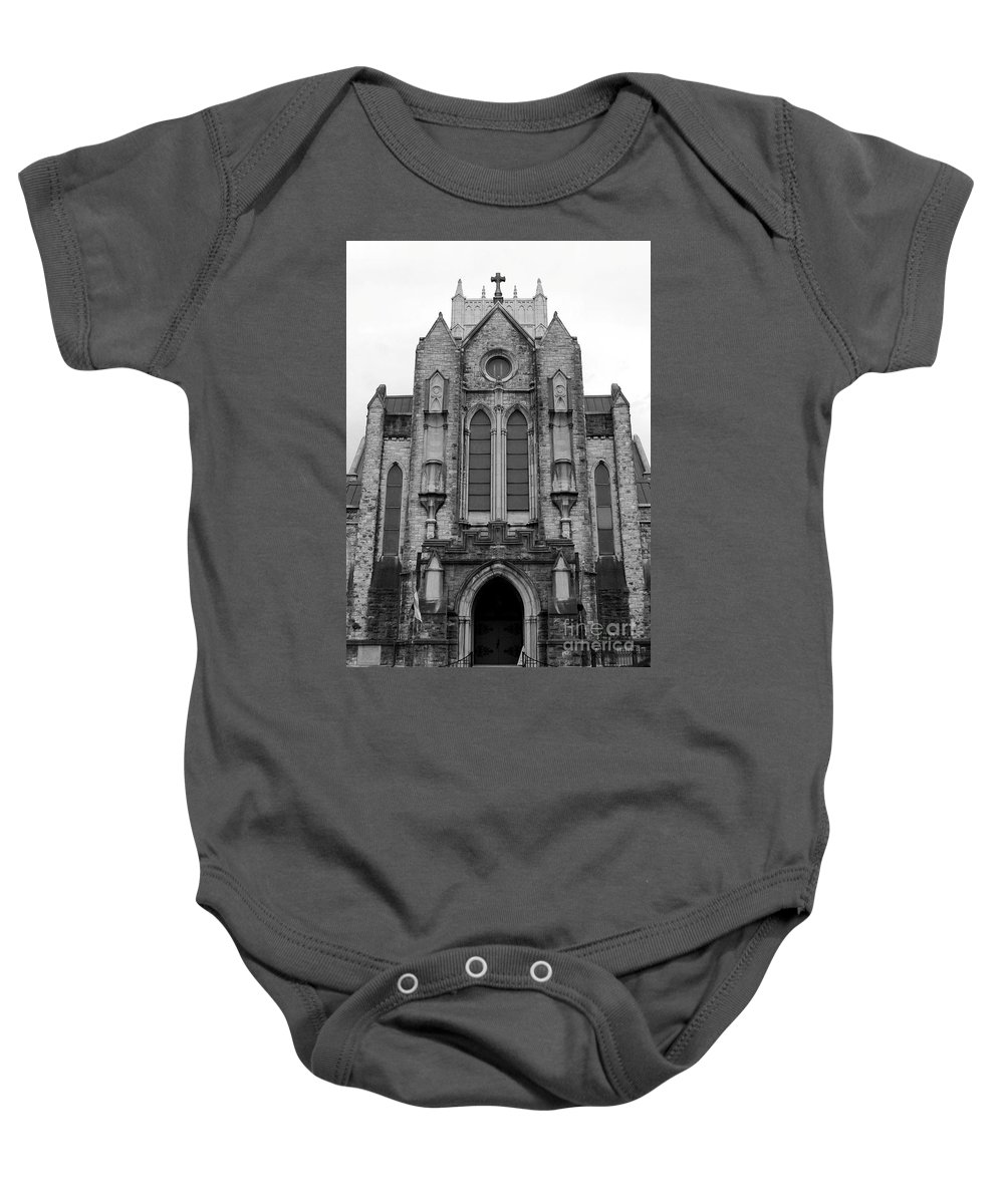 Church Baby Onesie featuring the photograph St Mary's Cathedral Memphis Tn by Robert Wilder Jr