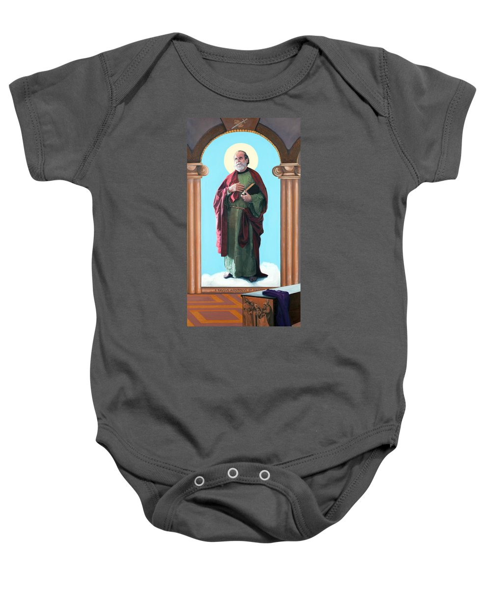 Apostle Baby Onesie featuring the painting St Paul by Sister Laura McGowan