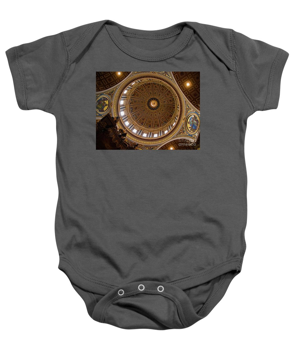 St. Peter's Baby Onesie featuring the photograph St. Peter's Duomo 1 by Doug Sturgess