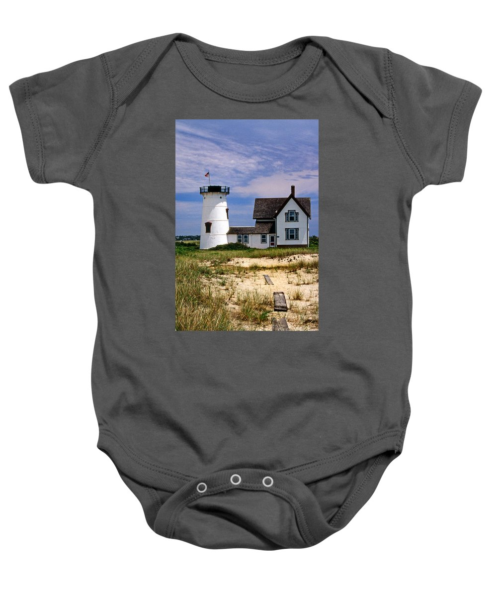 Stage Harbor Lighthouse Baby Onesies