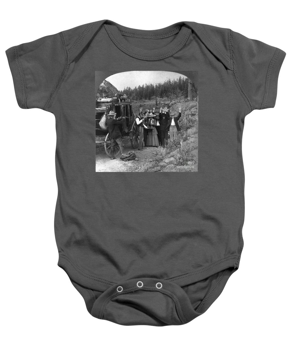 1911 Baby Onesie featuring the photograph Stagecoach Robbery, 1911 by Granger