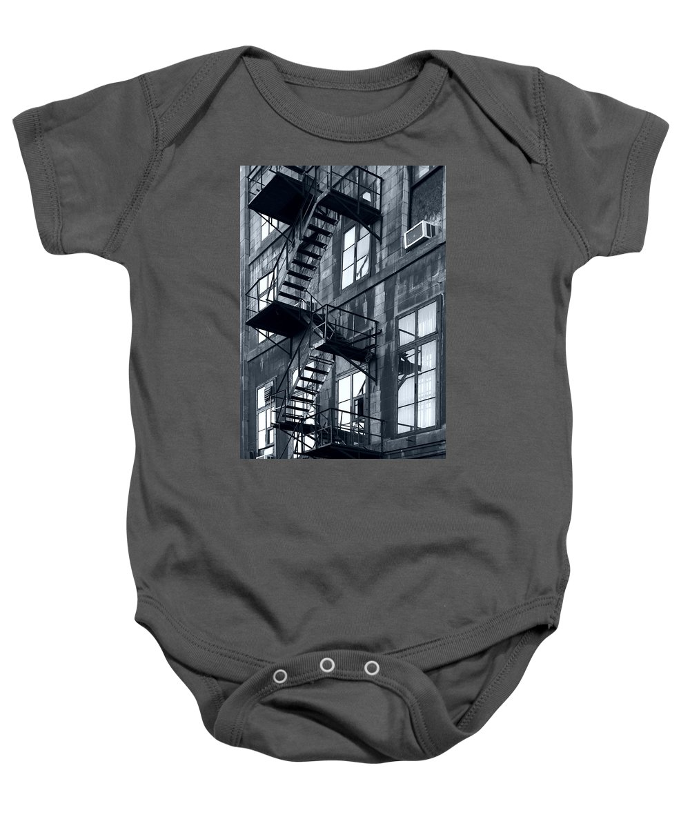 Canada Baby Onesie featuring the photograph Stairs by Pierre Logwin