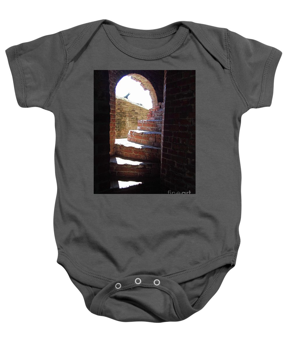 Stairway Baby Onesie featuring the photograph Stairs To The Top by D Hackett