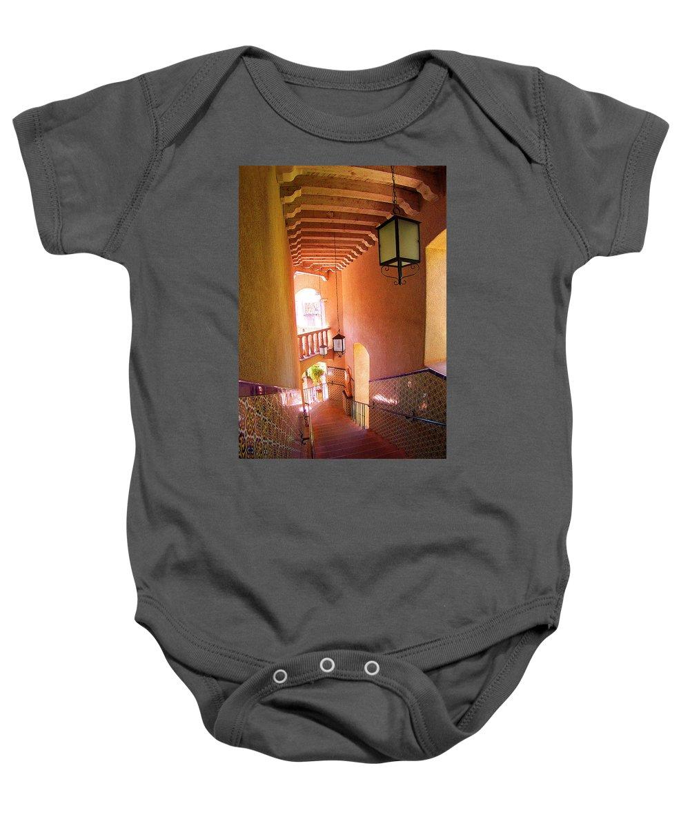 Architecture Baby Onesie featuring the photograph Stairway by Ben and Raisa Gertsberg