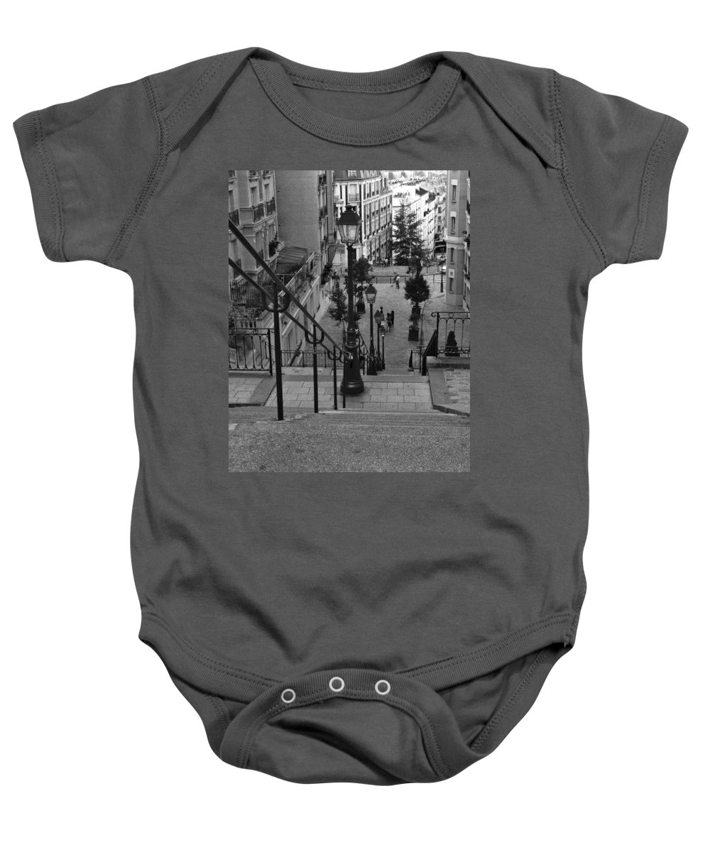Stairs Baby Onesie featuring the photograph Stairway On Montmartre by Greg Matchick