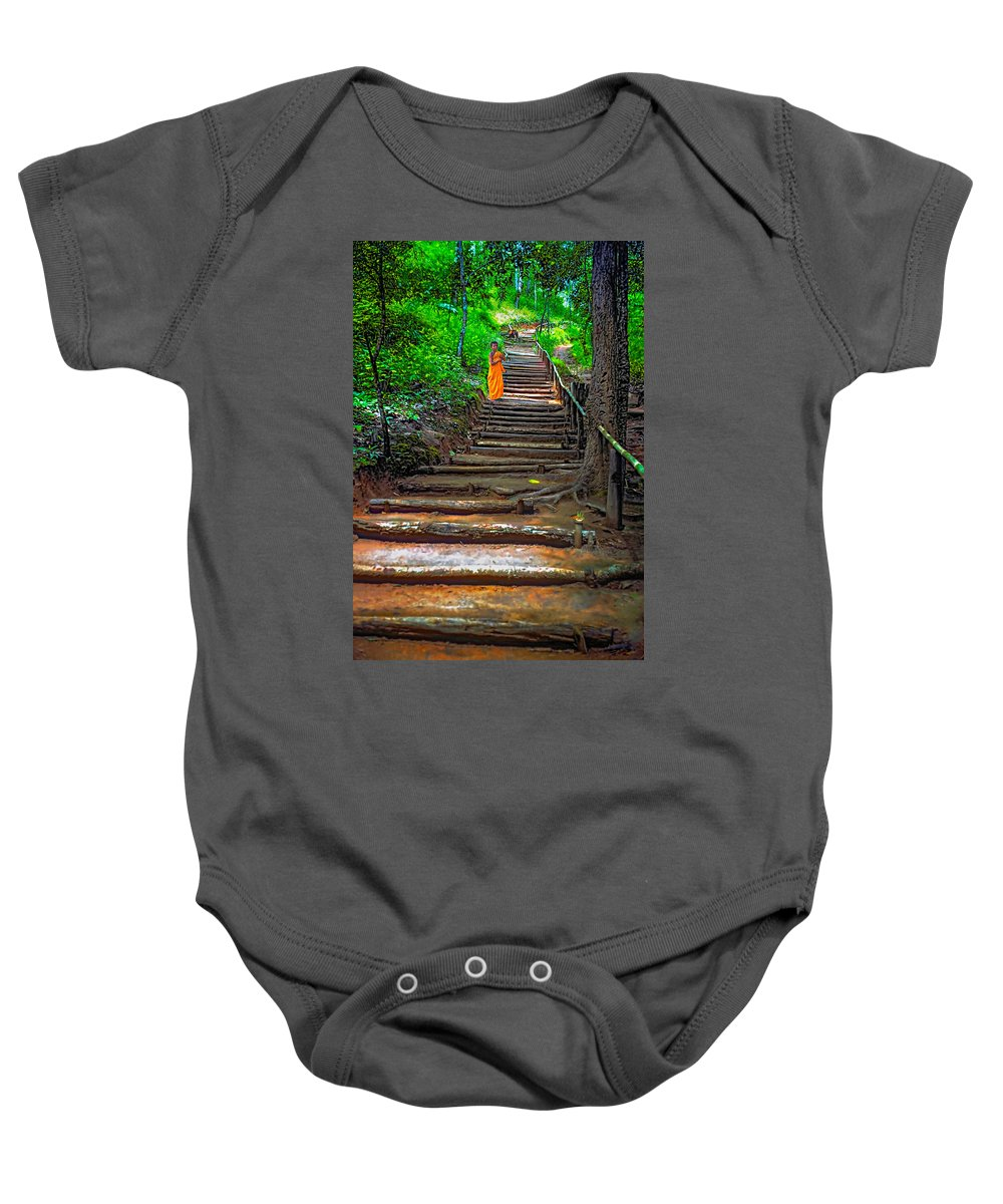 Jungle Baby Onesie featuring the photograph Stairway To Heaven by Steve Harrington