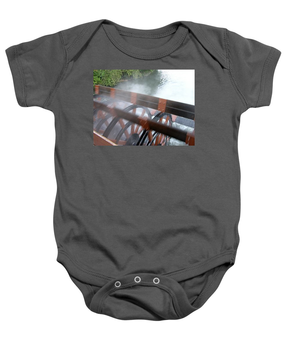 Steamboat Baby Onesie featuring the photograph Steamboat by Are Lund