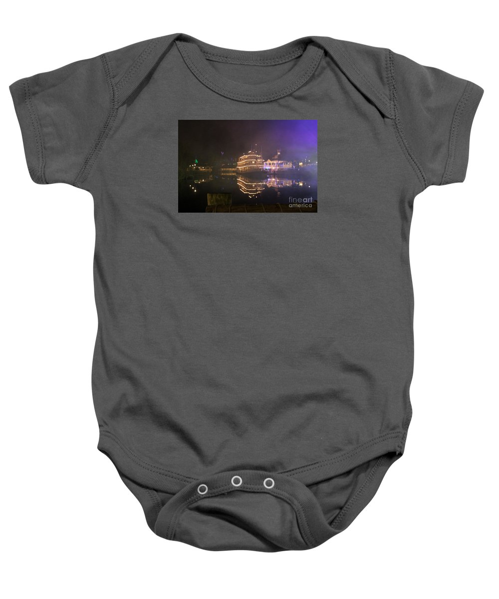 Fog Baby Onesie featuring the photograph Steamboat Reflections by Mesa Teresita